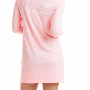Vineyard Vines Beach Hoodie Cover Up Pink